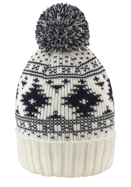 Bonnet jacquard pompon personnalisé (Result Winter Essentials)